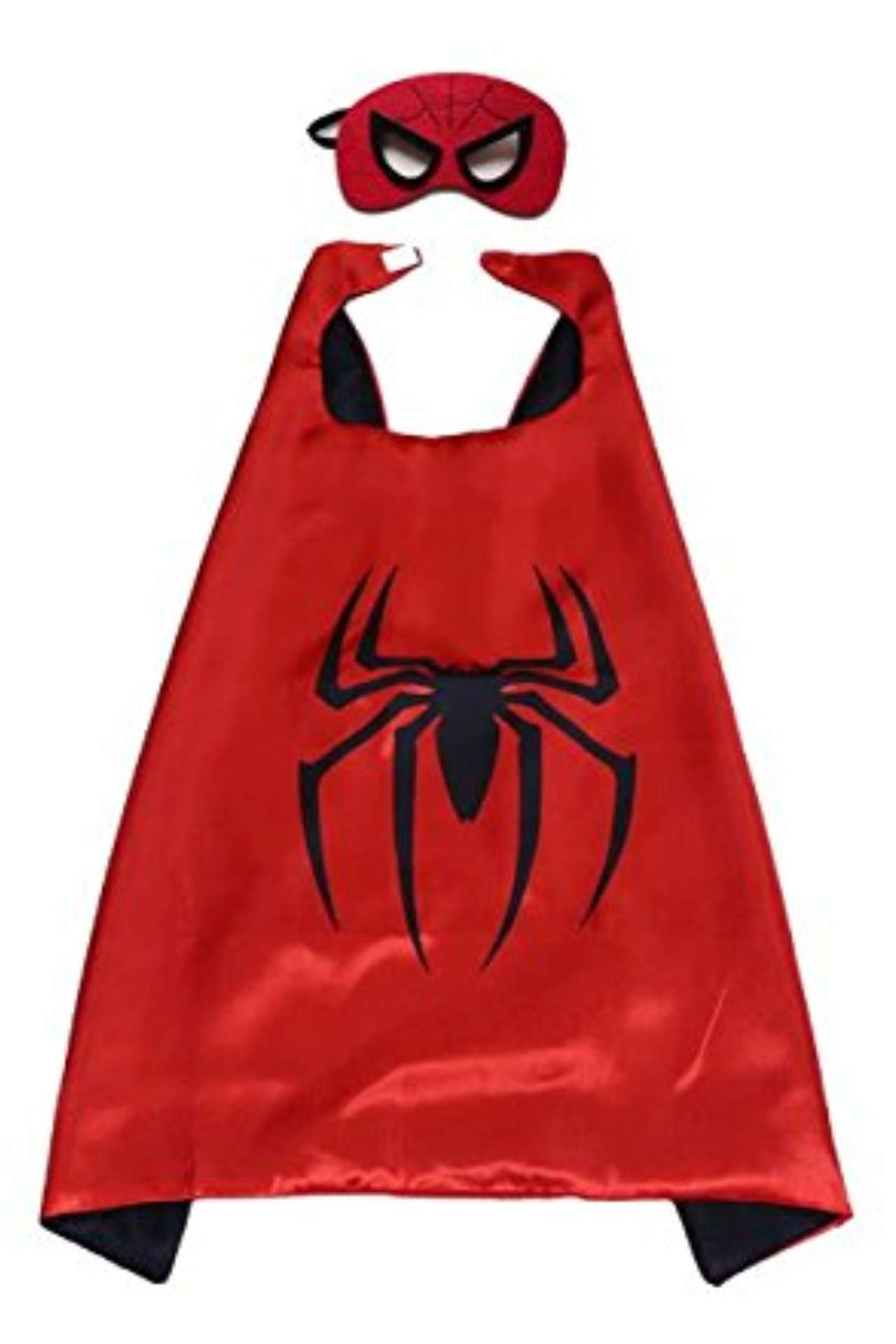 Children Marvel Universe Avengers Spider-Man satin cape and felt mask