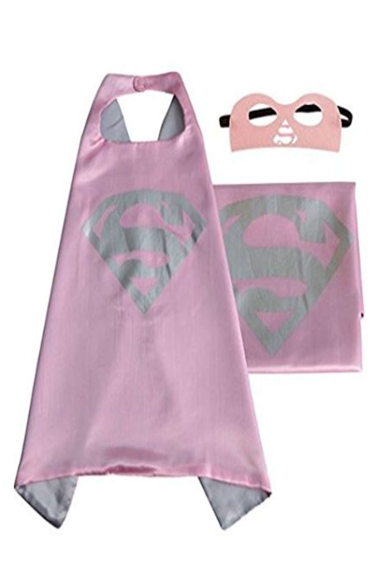 Children DC Universe Supergirl satin cape and felt mask