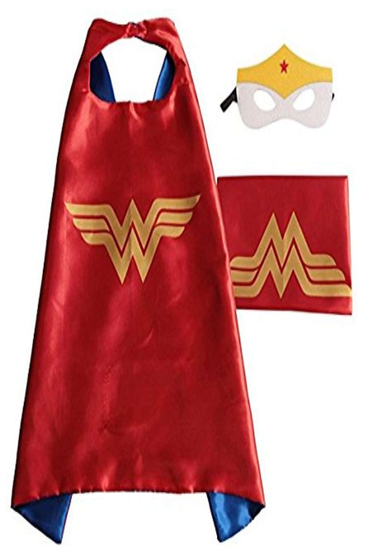 Children DC Universe Wonder Woman satin cape and felt mask