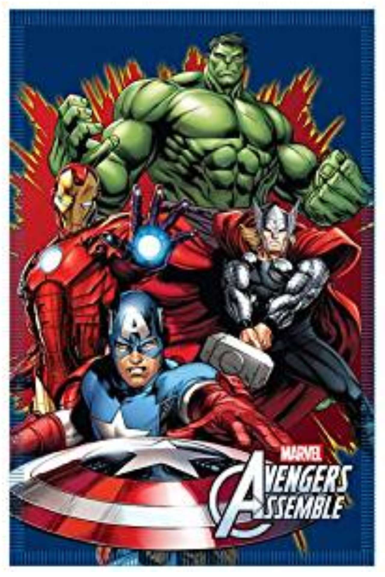 Marvel avengers soft fleece blanket Avengers assemble