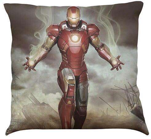 Official Marvel Avengers Iron Man Hand Swirl Pillow With Filling