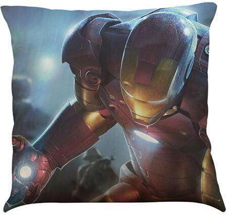 Official Marvel Avengers Iron Man Head Shot Close up Pillow With Filling