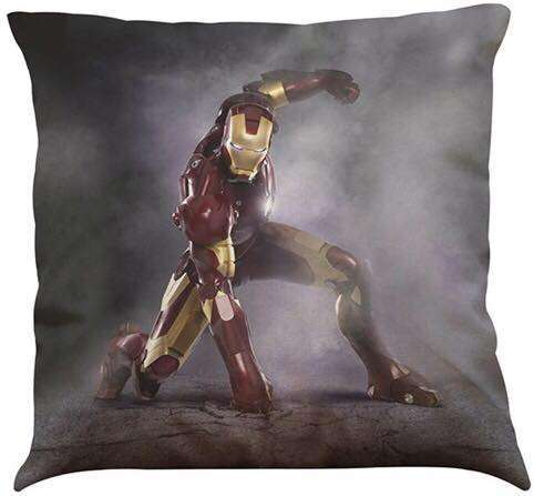 Official Marvel Avengers Iron Man Punching The Floor Pillow With Filling
