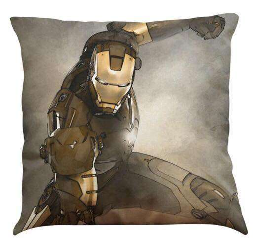 Official Marvel Avengers Iron Man Grey and Gold  Pillow With Filling
