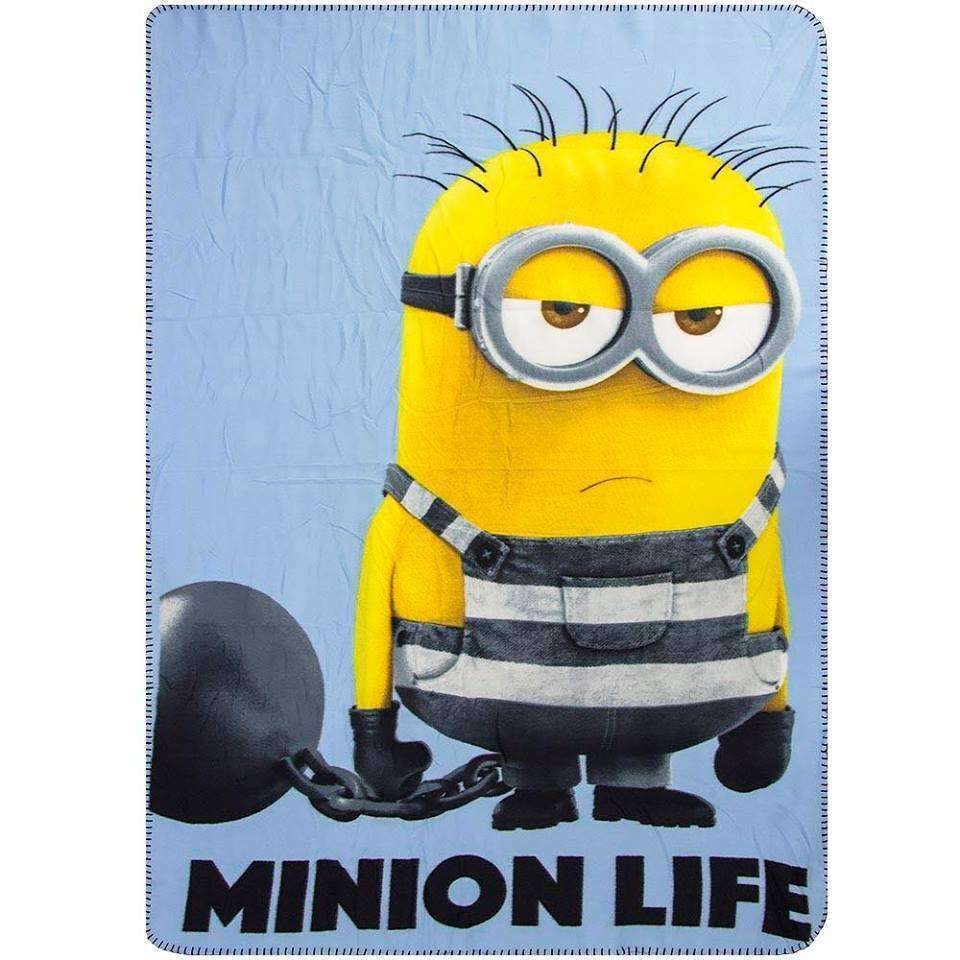 Official Illumination Entertainment Its A Minion Life Fleece Blanket