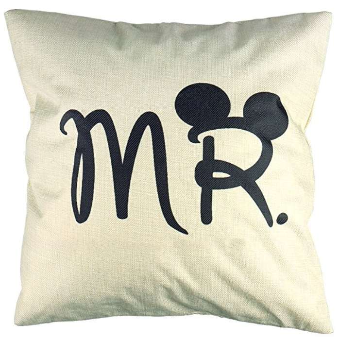 Mr Mickey Mouse Cushion Cotton Linen Throw Pillow