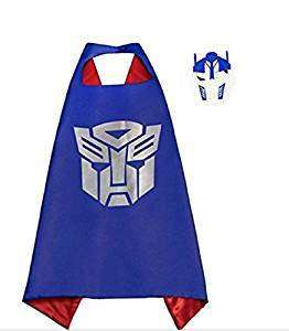 Children Hasbro Transformers Blue satin cape and felt mask