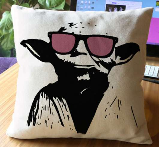 Disney Star Wars Funny Yoda Cushion