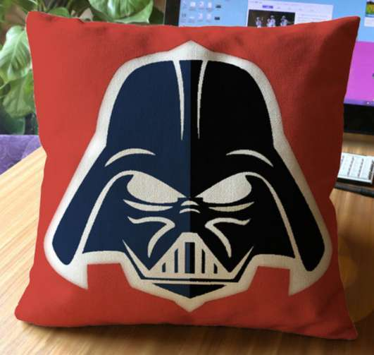 Disney Star Wars Darth Vader Red Cushion