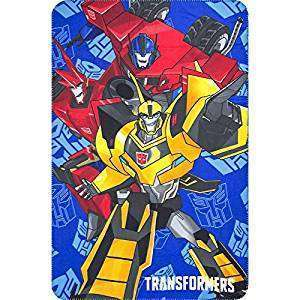 Official Transformers Fleece Blanket With Optimus Prime and Bumblebee