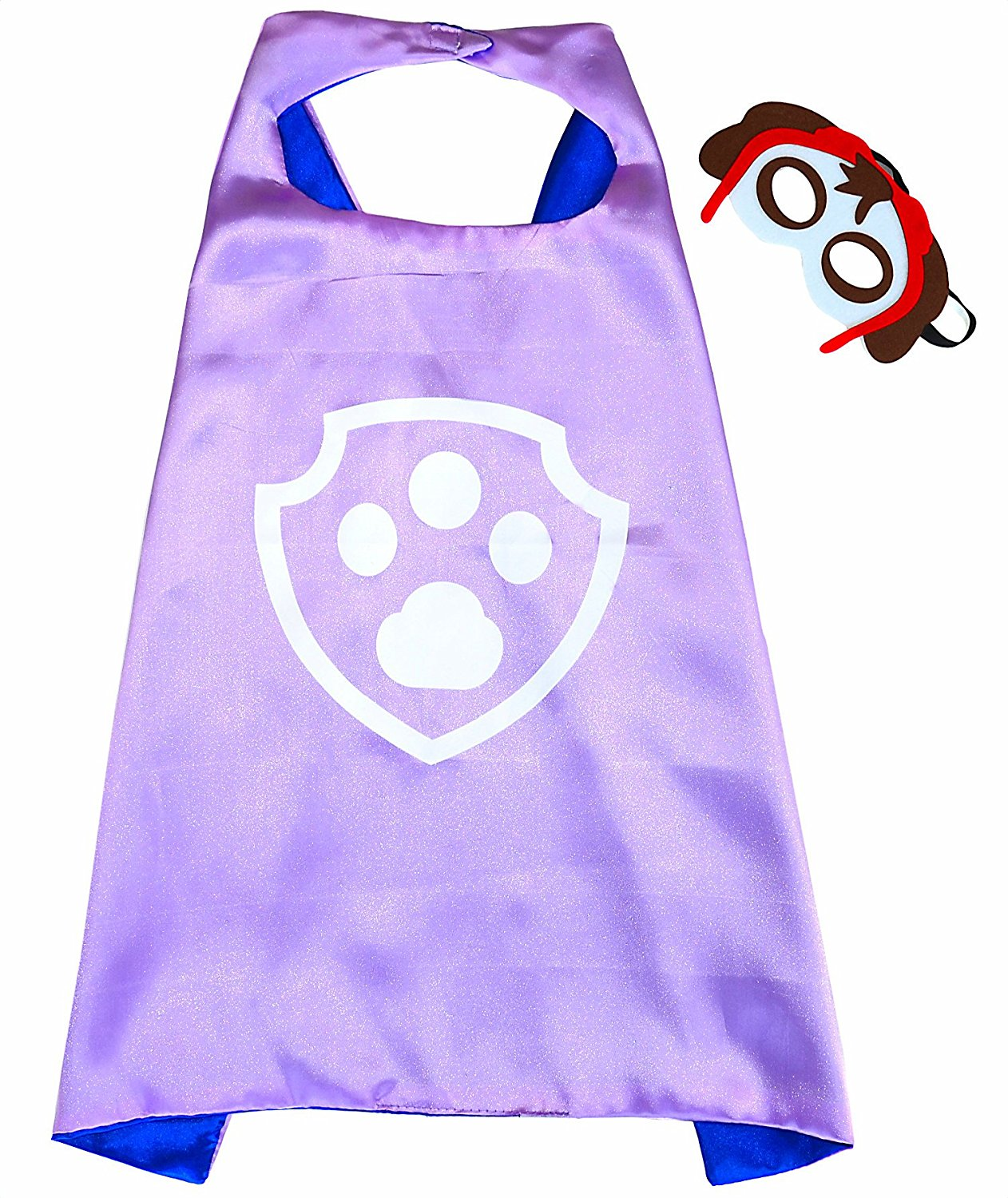 Paw Patrol Skye satin cape and felt mask