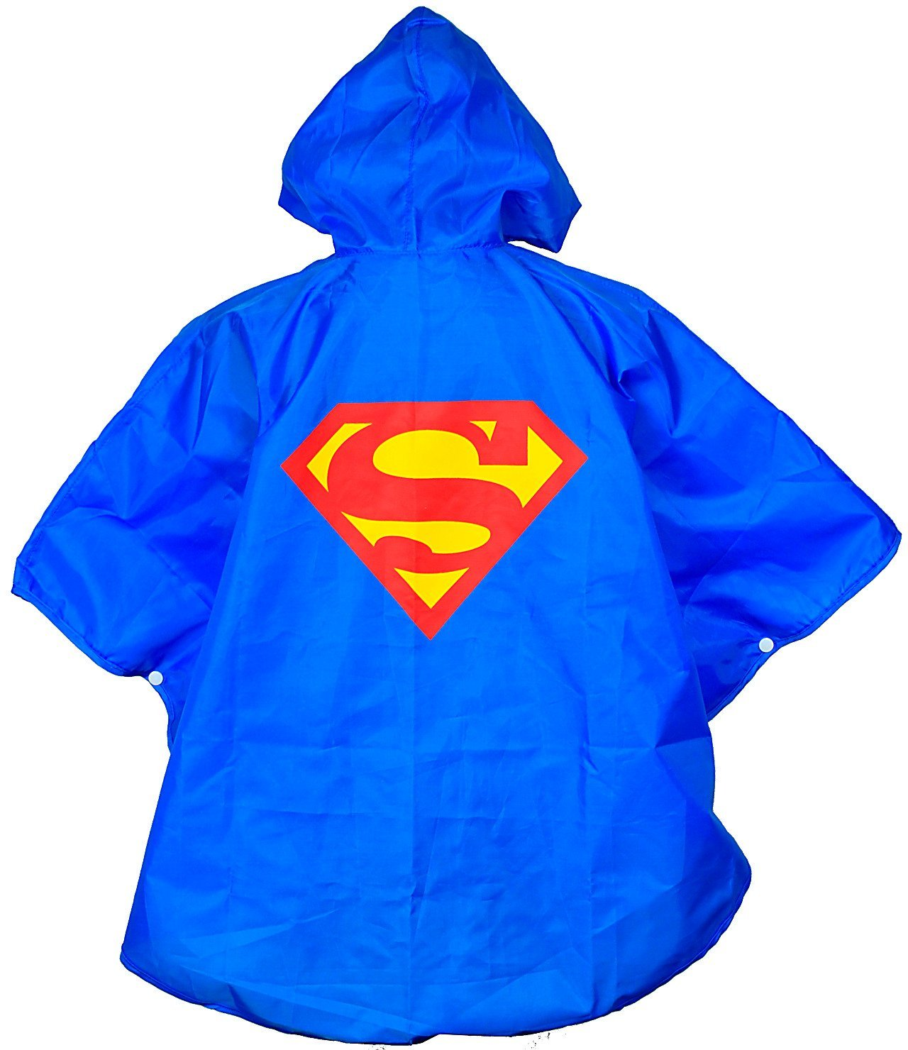 Kids Superman Poncho Raincoat With FREE Super Hero Bag