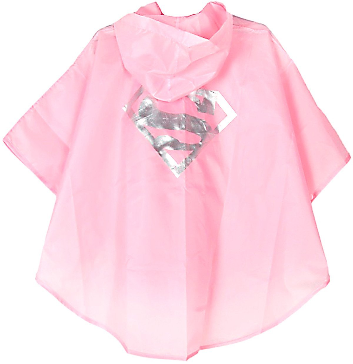 KIDS SUPERGIRL PONCHO RAINCOAT WITH FREE SUPER HERO BAG