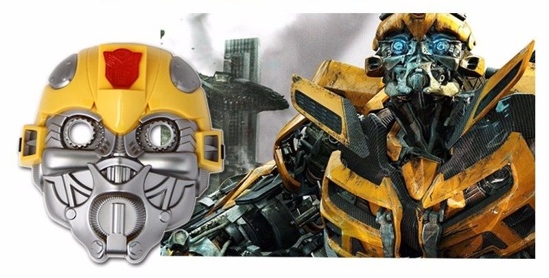 Official Transformers Bumble Bee LED mask With Light Up Face