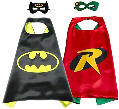 Marvel Avengers Two Pack Superhero Cape And Mask Set Batman And Robin