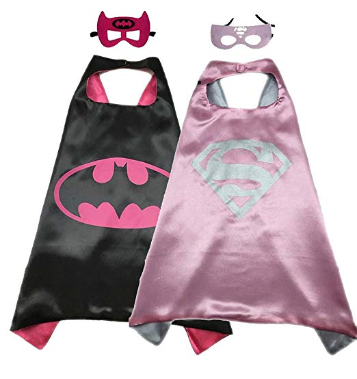 Marvel Avengers Two Pack Superhero Cape And Mask Set BatGirl And SuperGirl