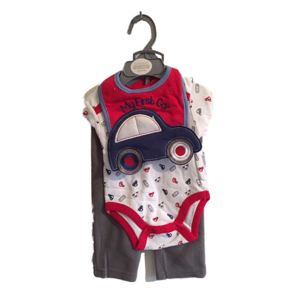 3 Piece Layette Boys With Car Design