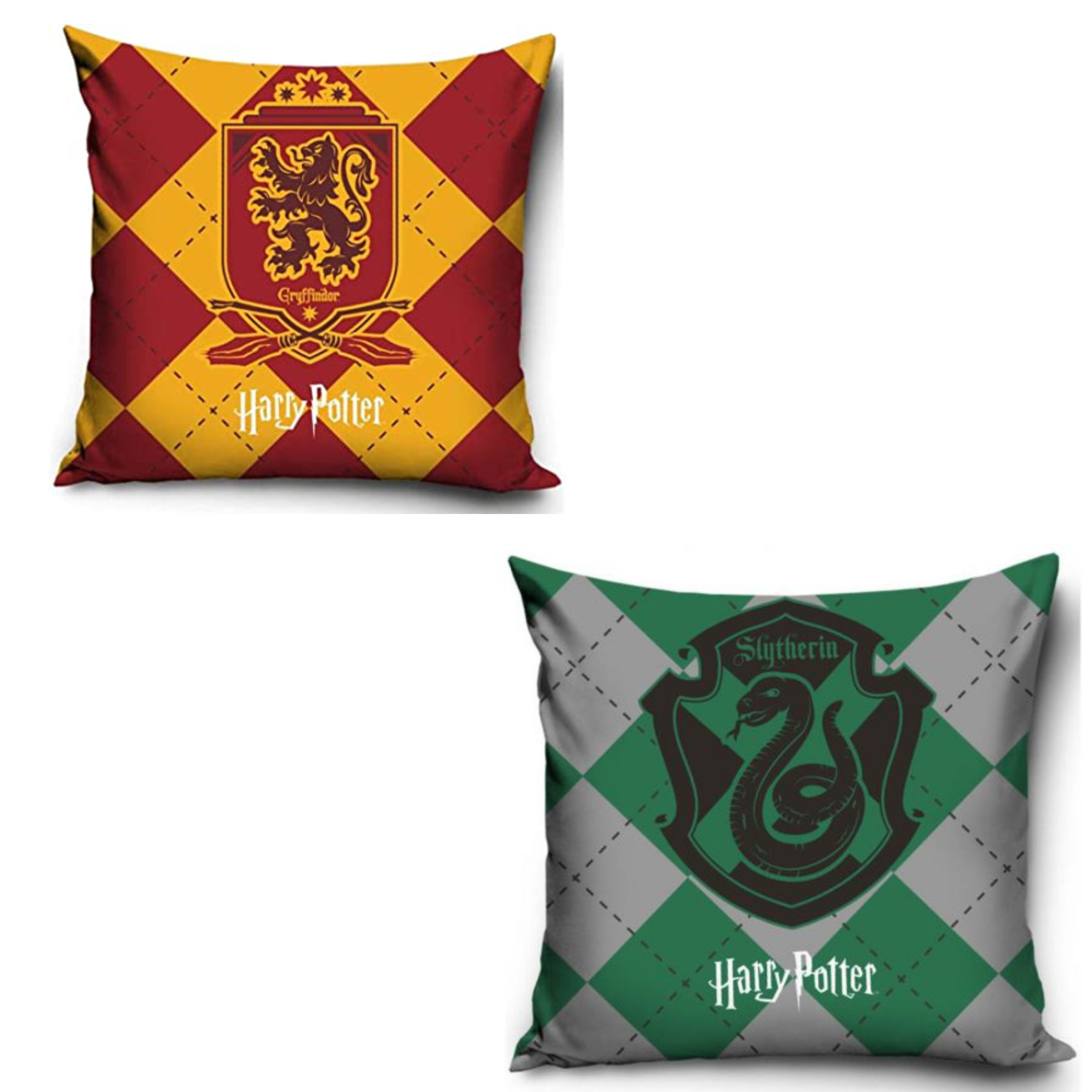 Official Warner Bros Harry Potter Griffindor And Slytherin 2 Pack Pillowcase Set