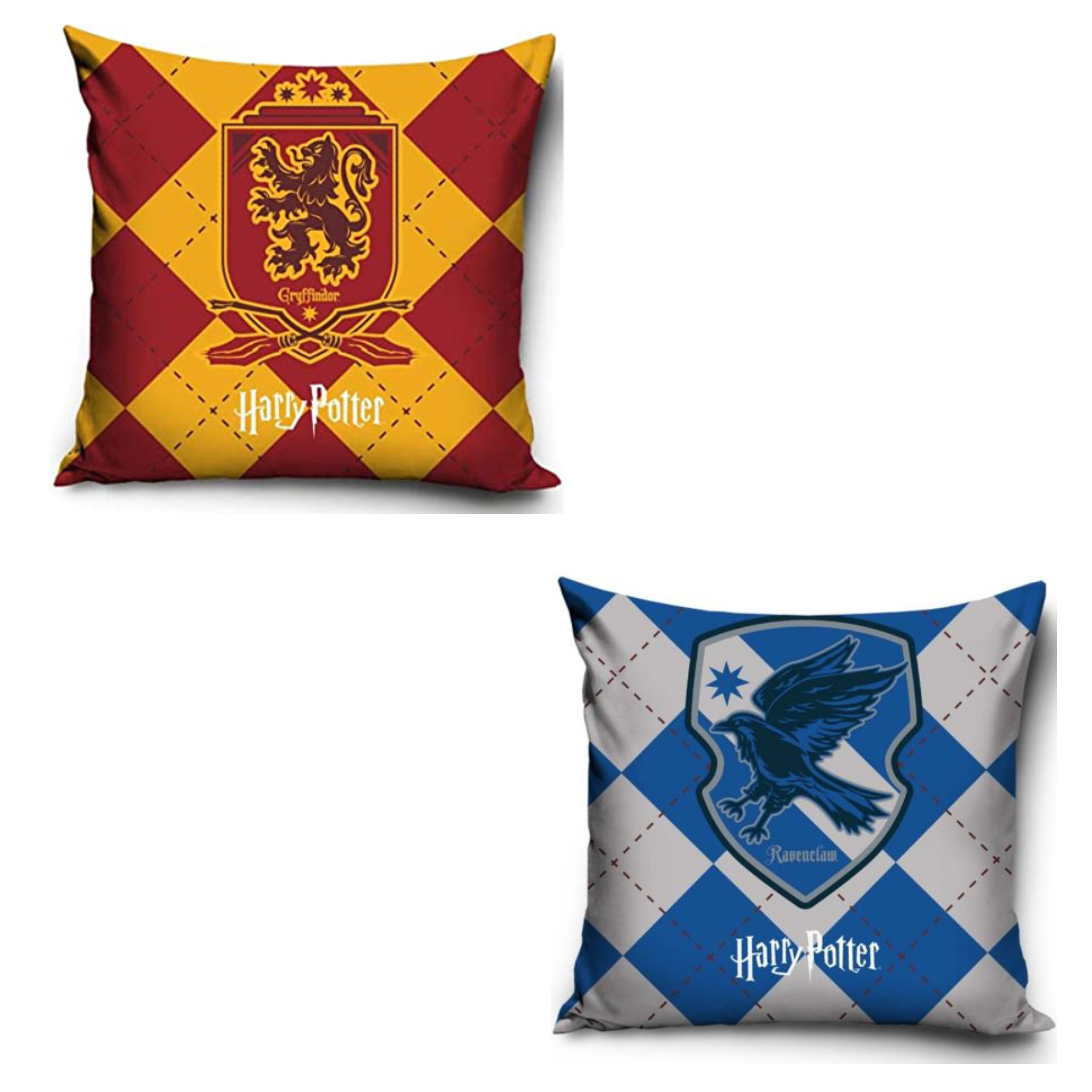 Official Warner Bros Harry Potter Gryffindor And Ravenclaw Pillowcase Set Of Two