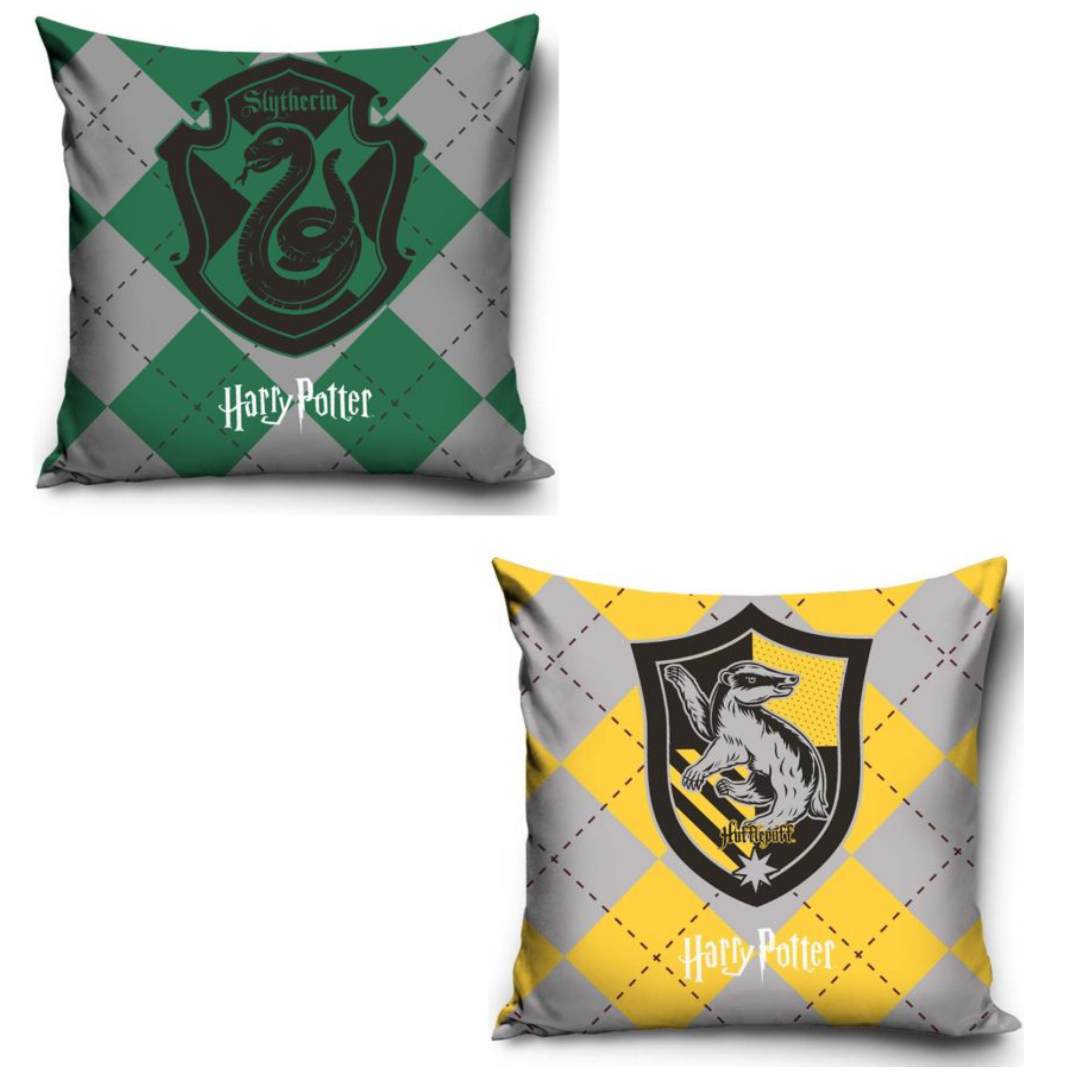 Official Warner Bros Harry Potter Hufflepuff And Slytherin Pillowcase Set Of Two
