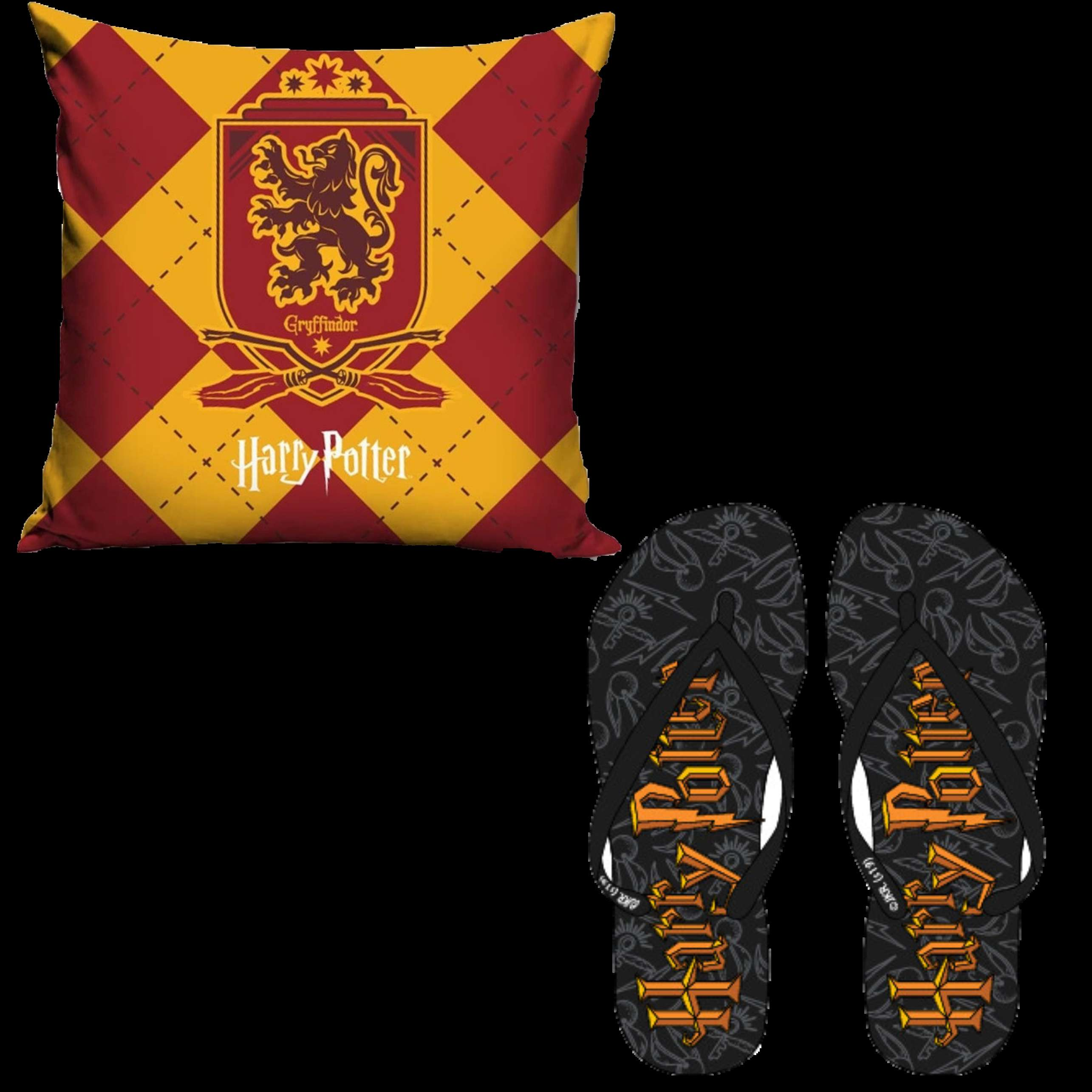 Official Warner Bros Harry Potter Griffindor Pillowcase And Flip Flop Set