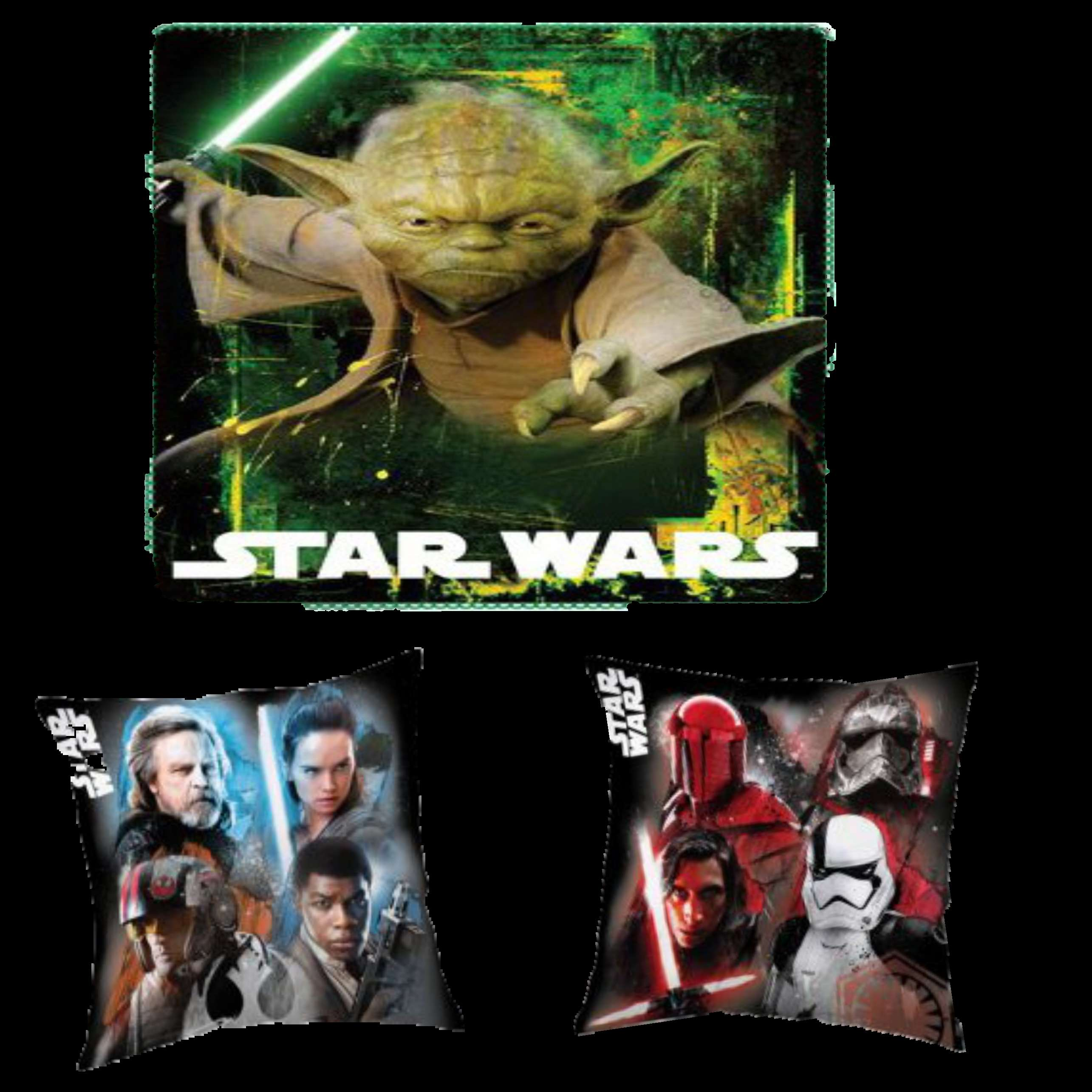 OFFICIAL DISNEY STAR WARS YODA FLEECE BLANKET AND STAR WARS REVERSIBLE PILLOWCASE