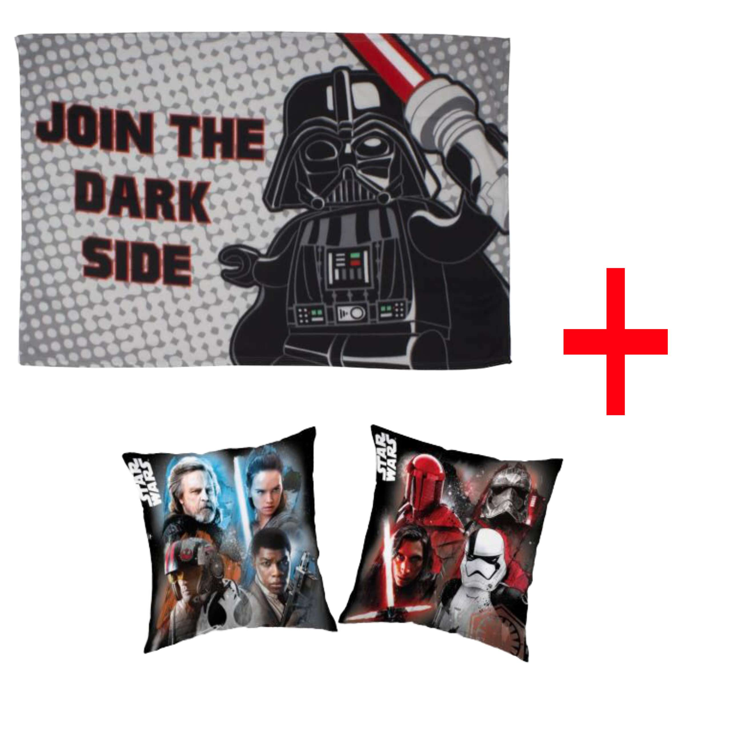 Disney Lego Star Wars Character Fleece Blanket And Reversible Pillowcase Set