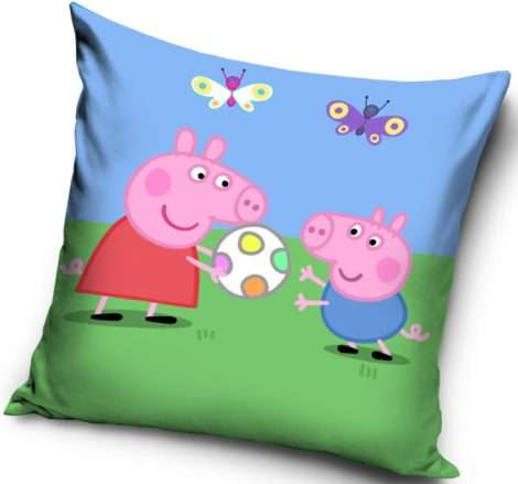 Peppa Pig And George Pig Playing Football Cushion