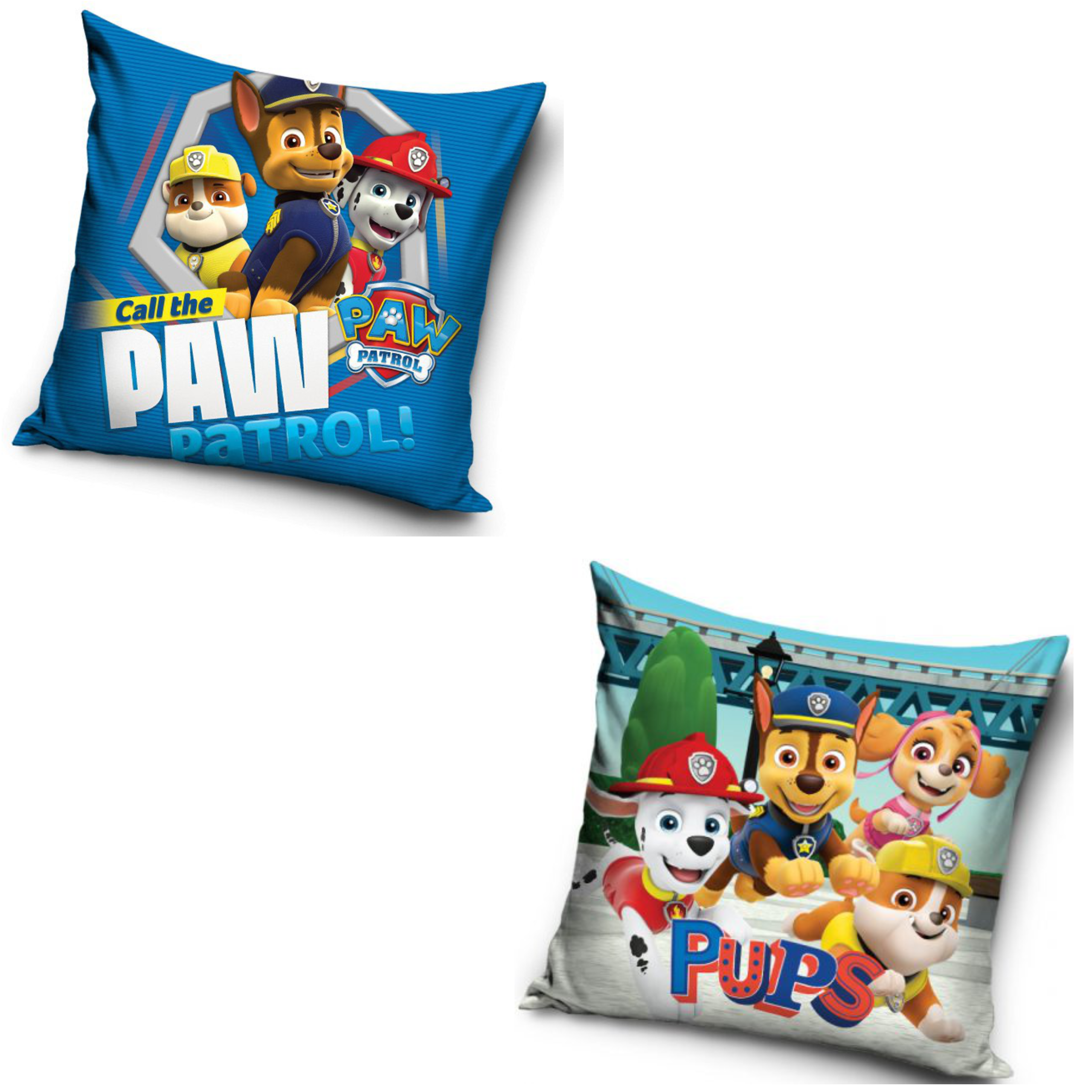 Call The Paw Patrol And Pups Two Pack Cushion Set