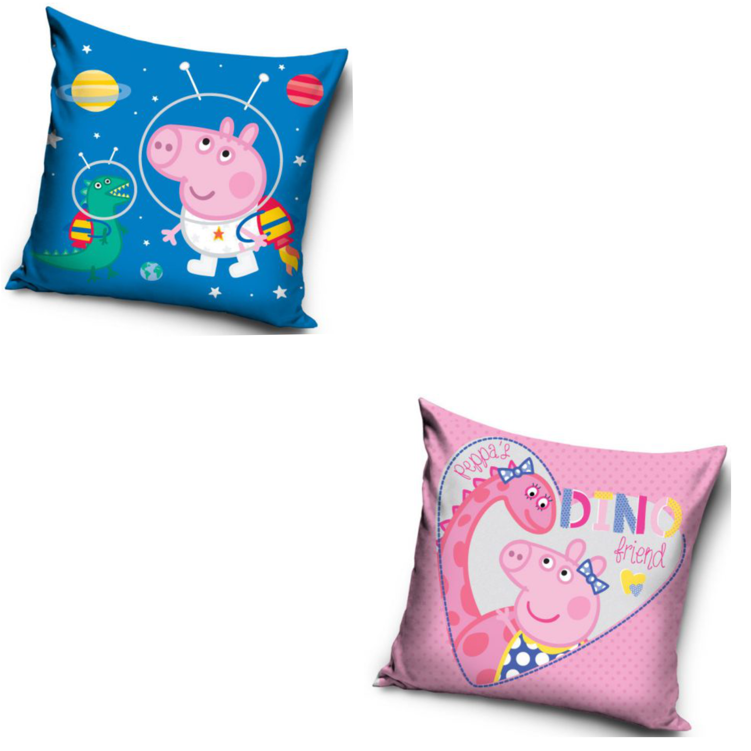 Peppa Pig Dino Friend And Space George Two Pack Cushion Set