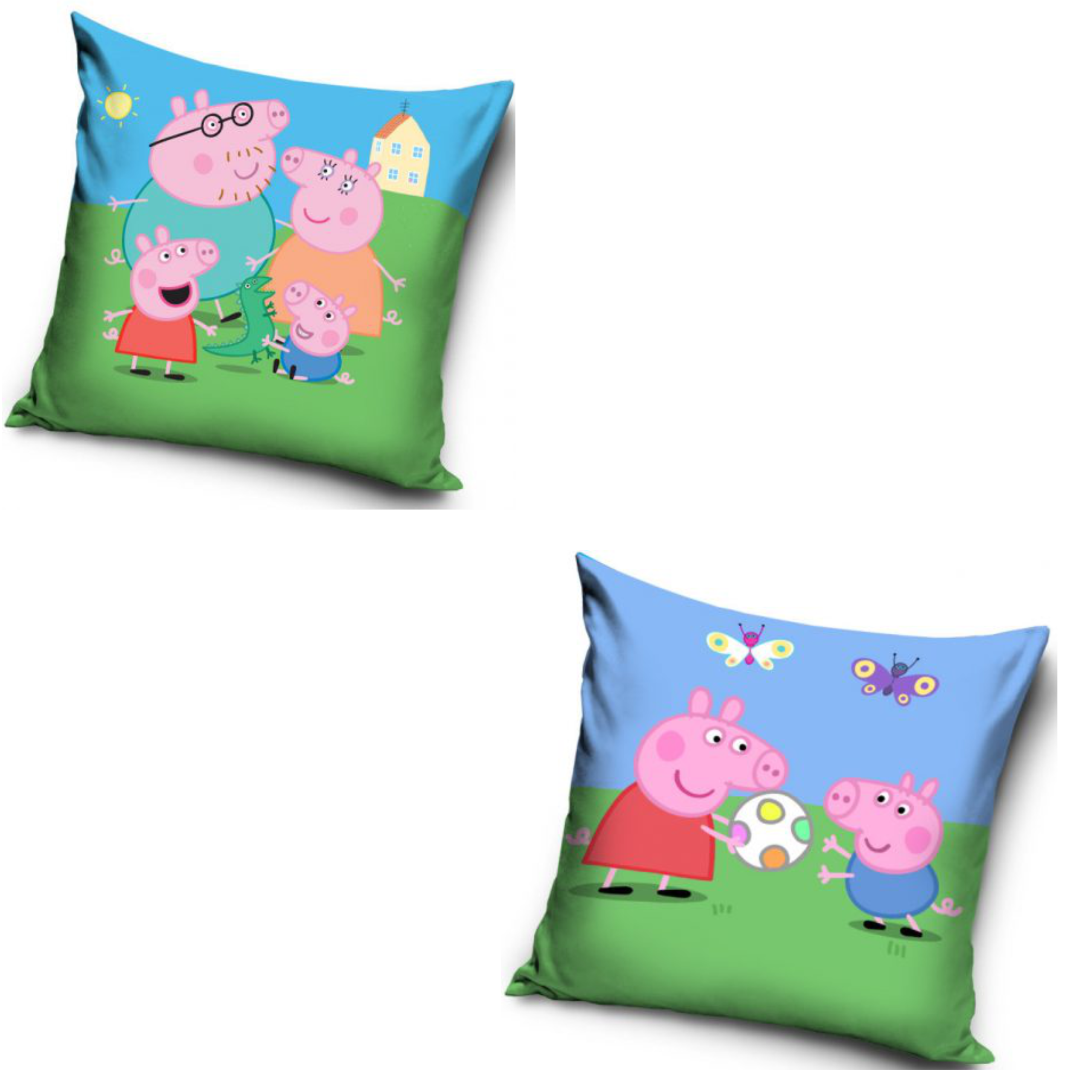 Peppa Pig Family And Peppa Pig Football Two Pack Cushion Set