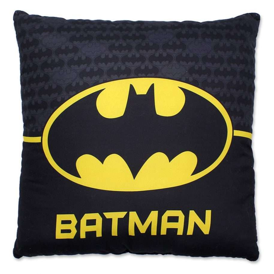 Batman Yellow And Black Logo Cushion